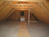 Attic and 2nd floor insulated | Up Hill House
