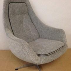 Swivel Chair Egg Dark Teal Armchair Bucket Newly Upholstered The Upholsterer Sydney