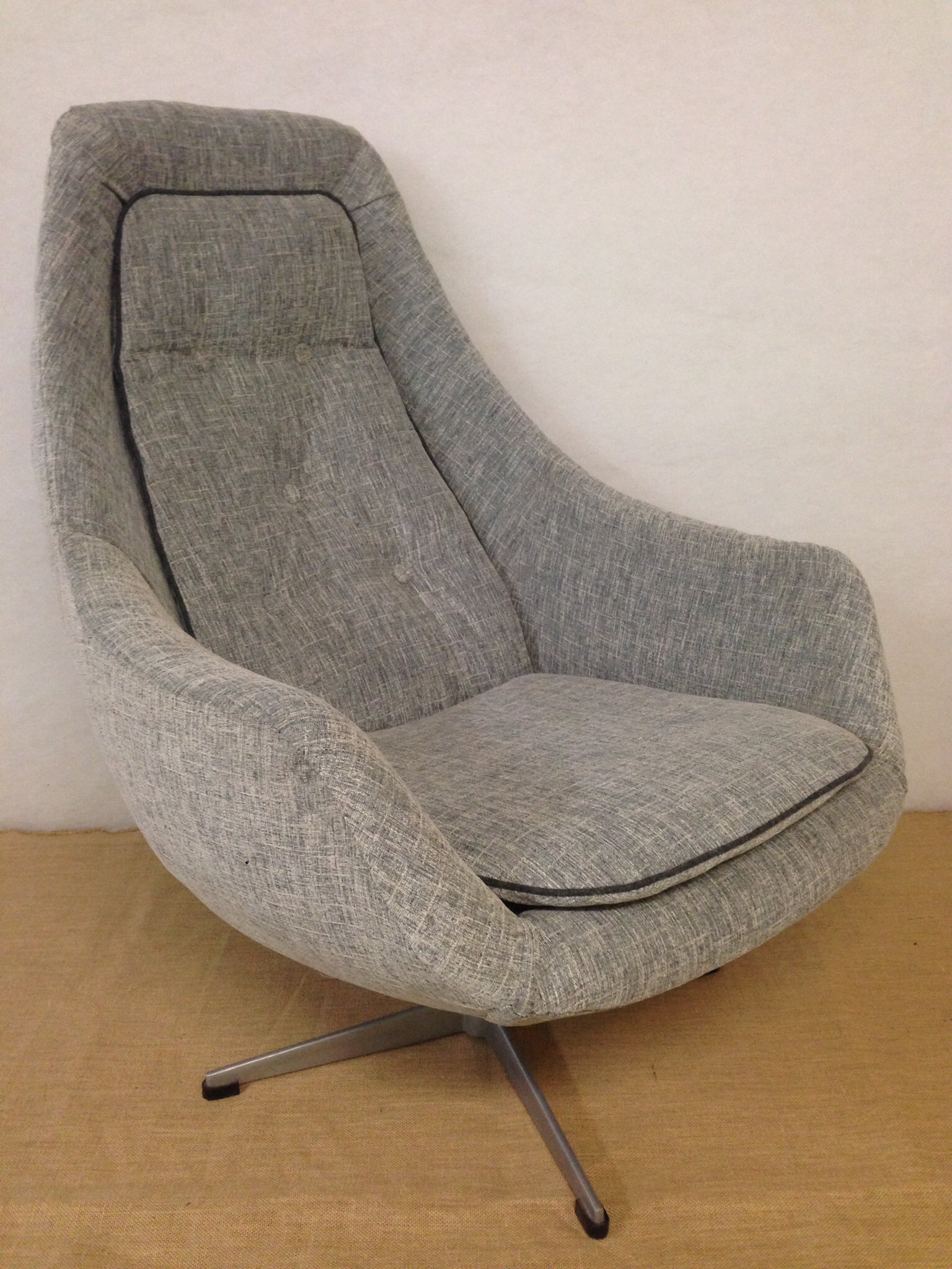 grey upholstered chair cover hire huntingdon egg bucket newly | the upholsterer sydney