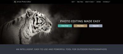 Smart photo editor screen