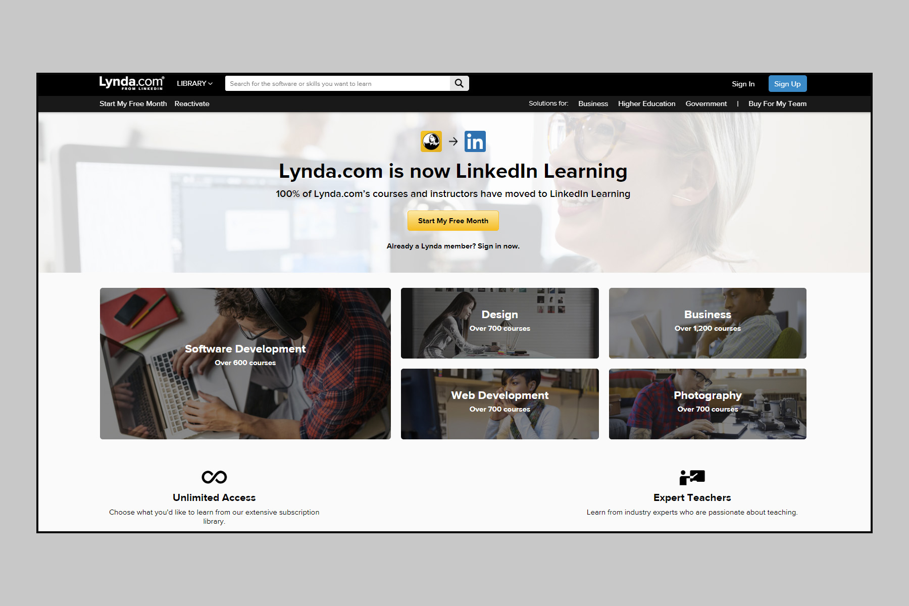 Best Online Learning with #1 Rated Lynda.com