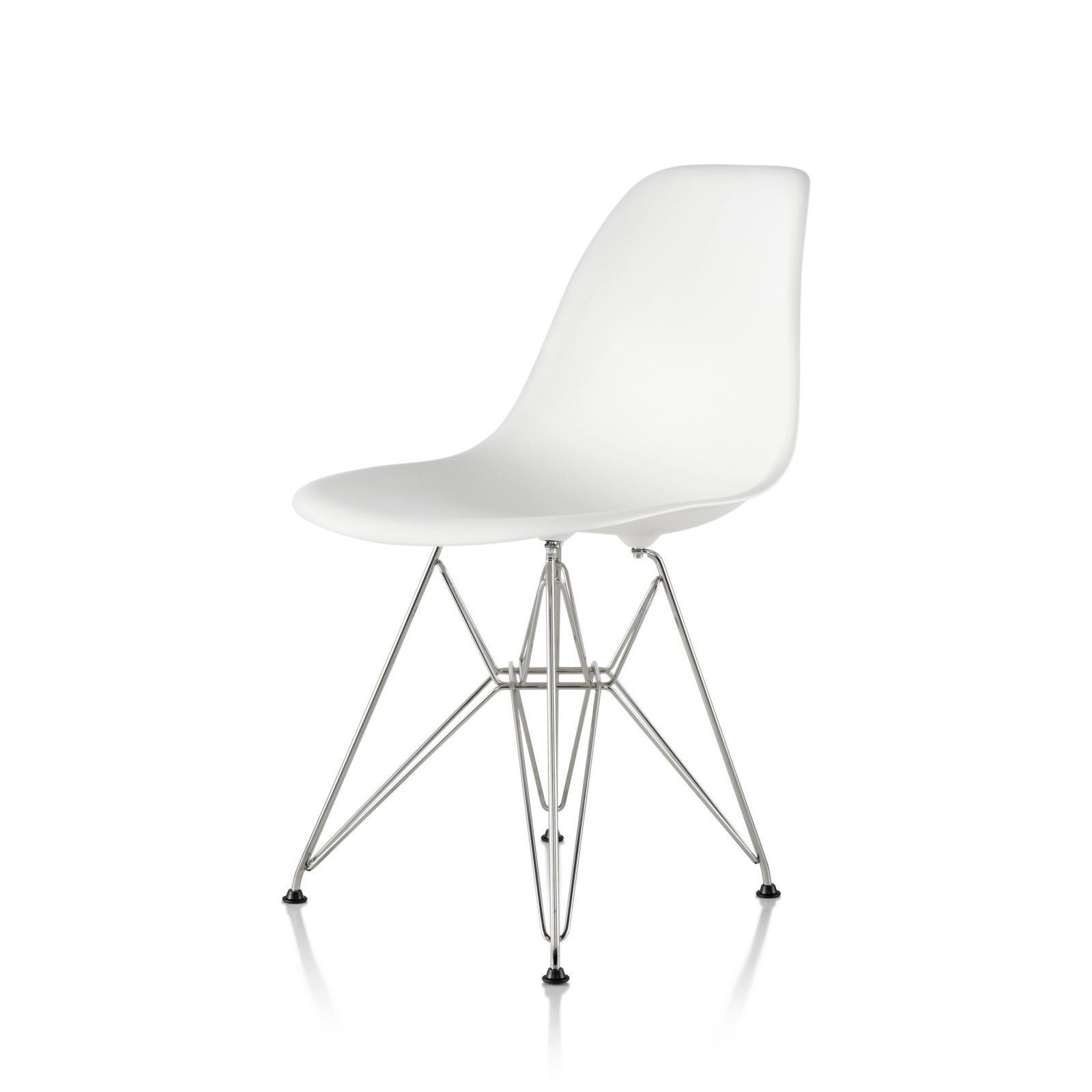 eames molded side chair movie theater chairs for home plastic wire base by charles and ray