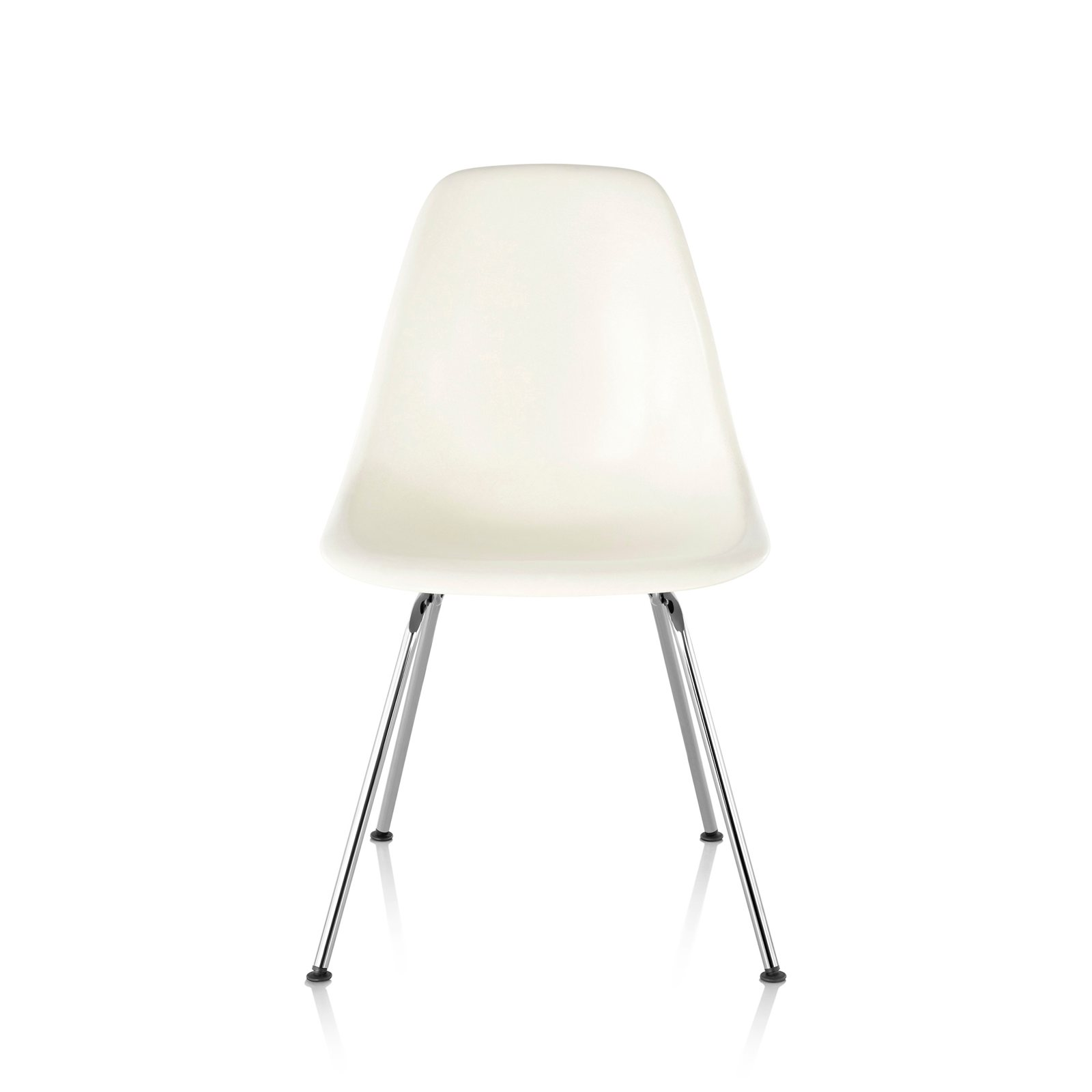 eames molded side chair breezesta adirondack chairs plastic 4 leg base by charles ray for herman miller