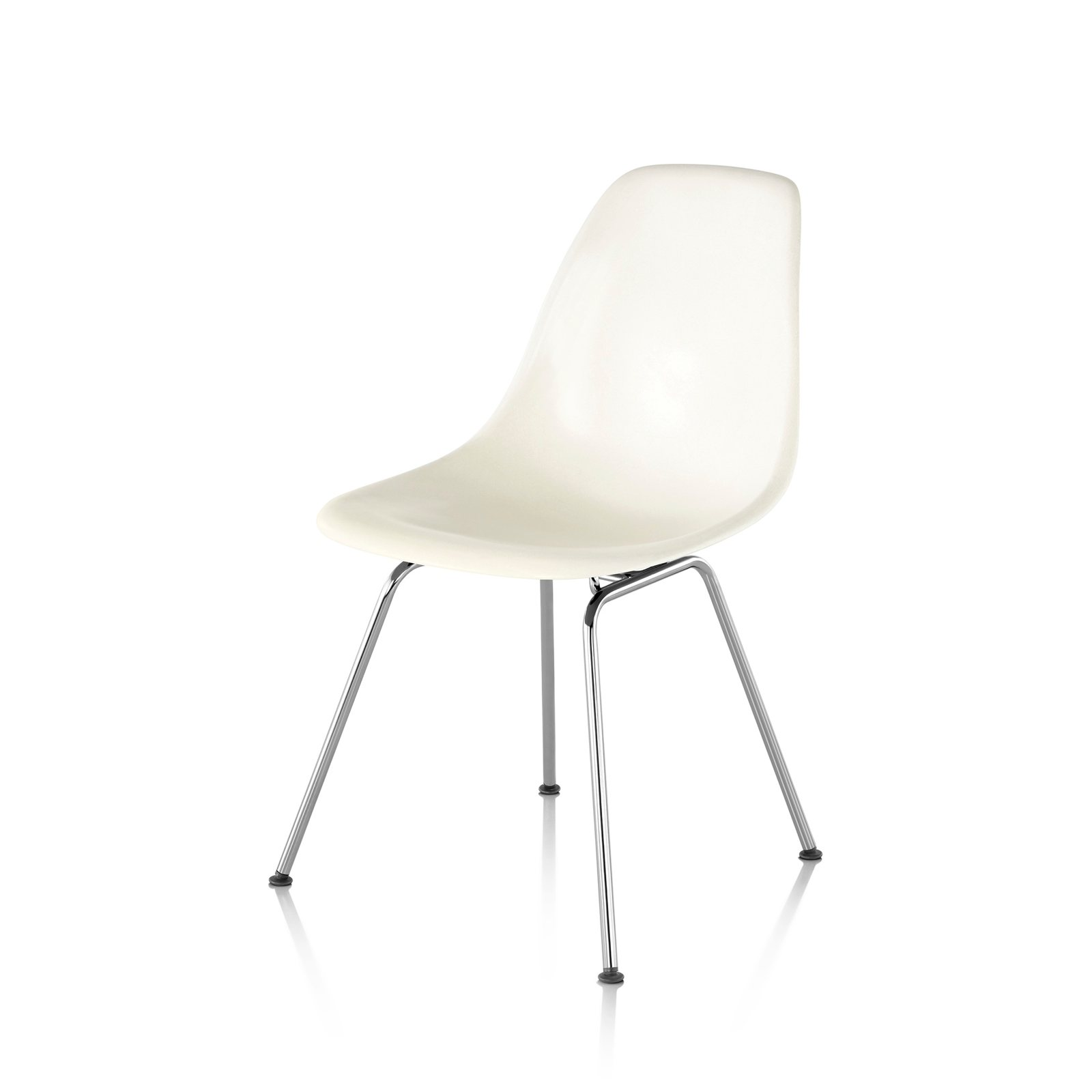 eames molded side chair throne rental nyc plastic 4 leg base by charles