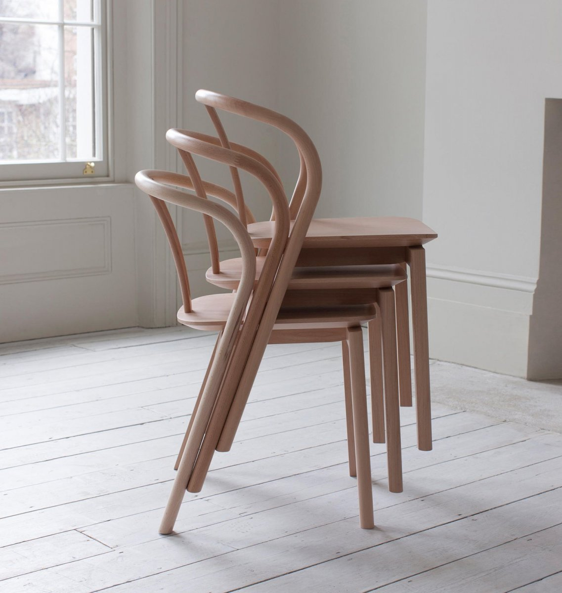 chair design studio cafe style wooden chairs flow by tna for ercol up interiors