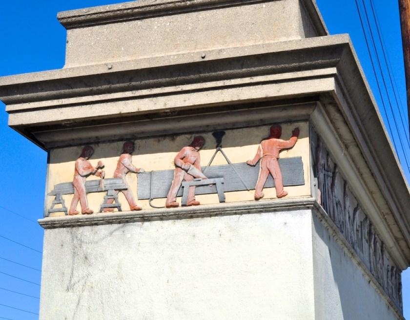 Workmen who built bridges were honored by a frieze on the bridges they built....