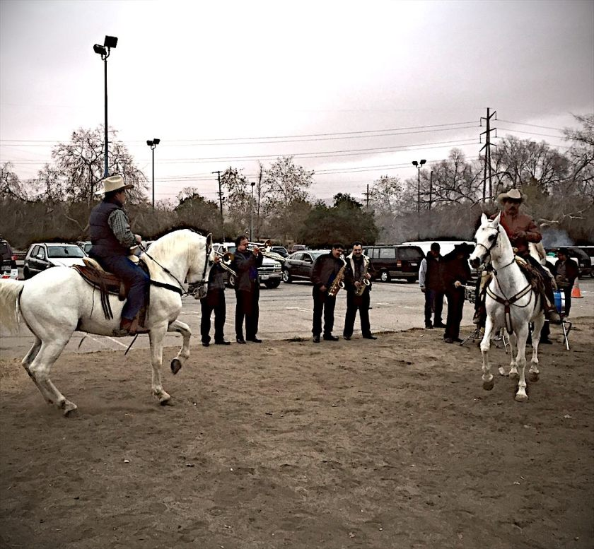 Charros at work, Hansen Dam