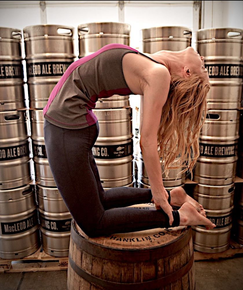 Yoga, then a pint