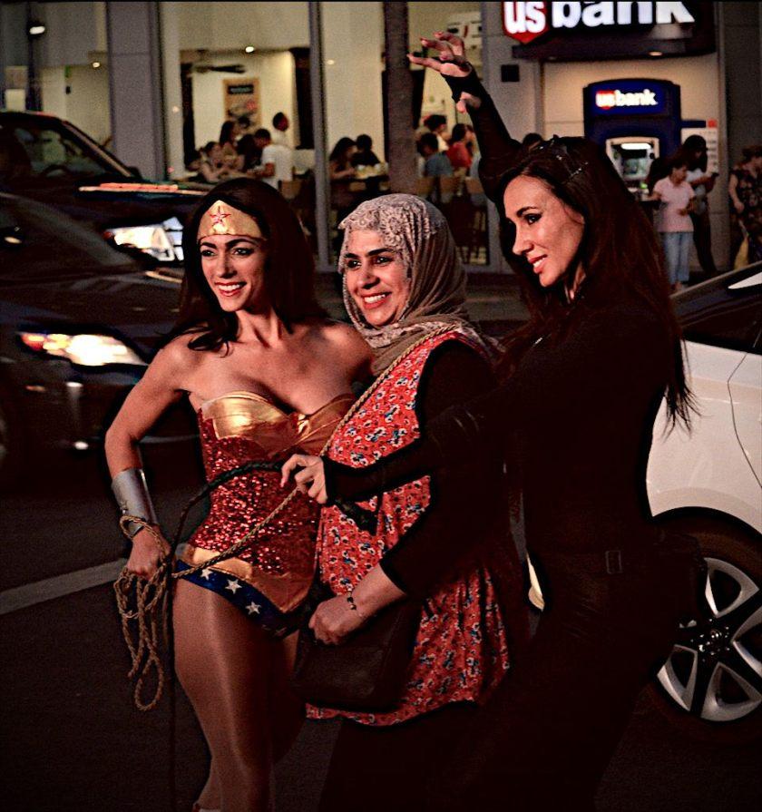 Wonder Woman and Muslima, Hollywood Blvd