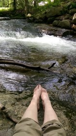 Bare Feet in the Coxing Kill, Mohonk Preserve