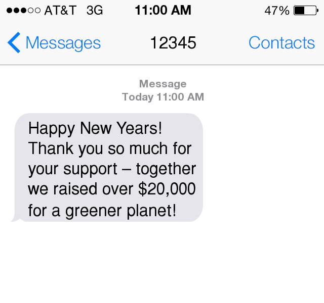 Sample Timeline for End of the Year Fundraising Text