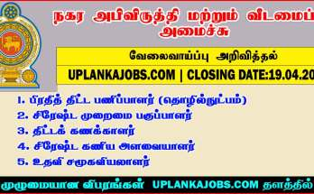 Ministry of Urban Development & Housing Vacancies 2021
