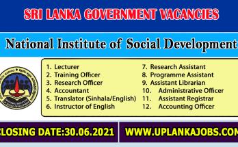National Institute of Social Development Vacancies 2021