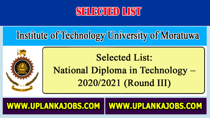 NDT Selected List 2020 (round iii)