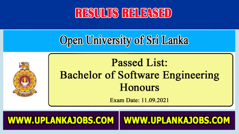 Selection Test Results Bachelor of Software Engineering OUSL