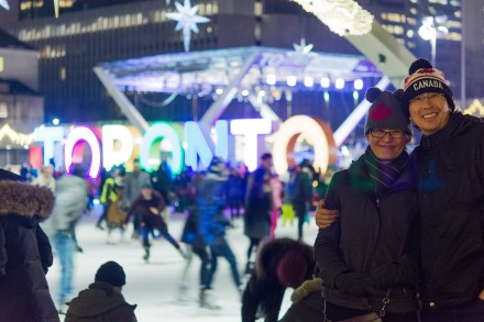 Giant Toronto sign at Nathan Phillips Square