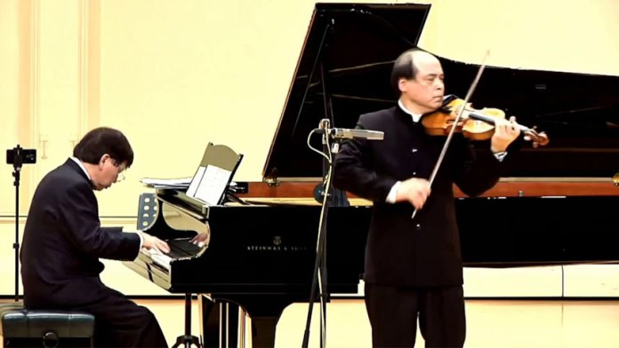 【视频】台湾艺术家钢琴小提琴二重奏:只有在国家音乐厅才能听到的音乐哦(视频截图)