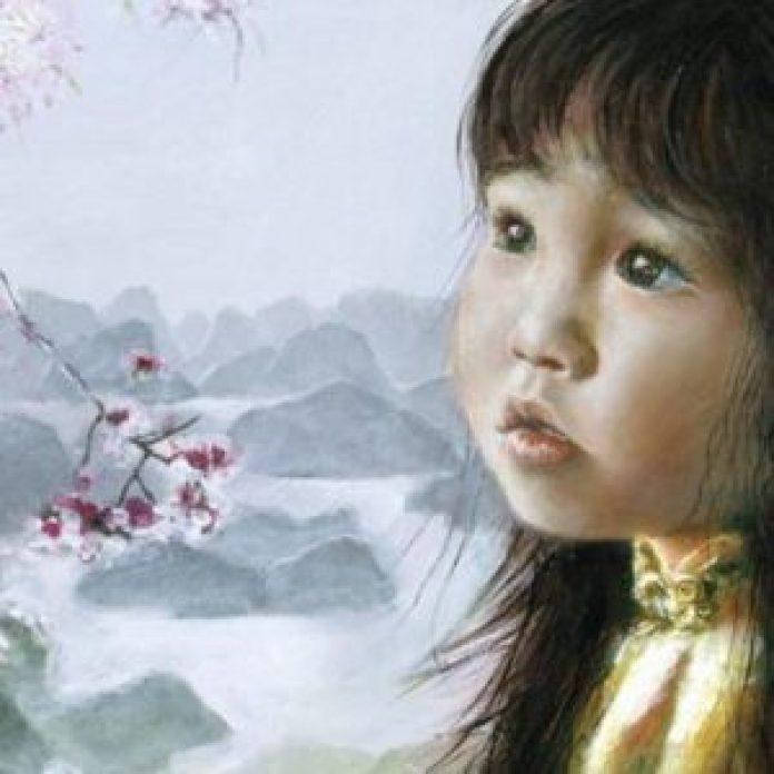 七岁,阿琪雅纳开始直接用油彩画画