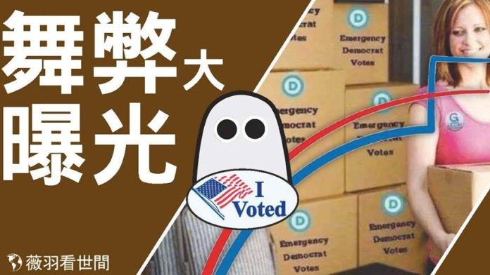 (特辑)【视频】舞弊与大曝光:美国选举,怪相丛生,触目惊心 (视频截图)