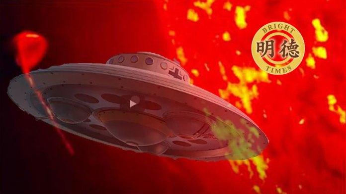 【视频】宇宙奧秘: UFO从几十万度高温的太阳里飞出?(明德合成)