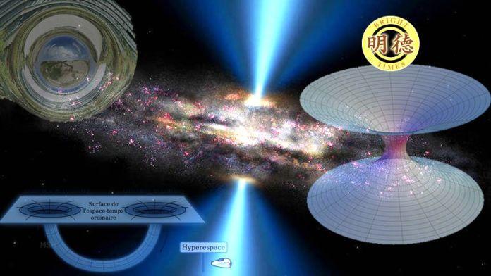哈佛科学家:虫洞真实存在!人类完全可以穿越?巨大黑洞為蟲洞?(明德合成)