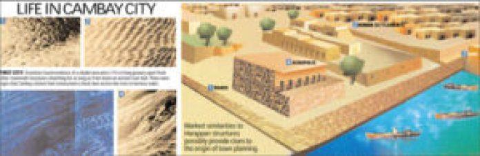 图18:印度坎巴特湾文化遗迹(明慧网)