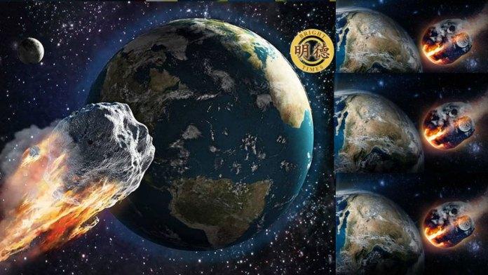 天劫倒数! ? 超巨大2001 FO32「行星」3月21日将悄然撞地球?(明德合成)