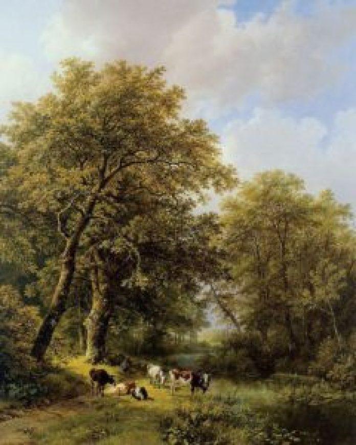 农村生活和家乡丹麦茂密森林的描绘(artmight.com/pin)