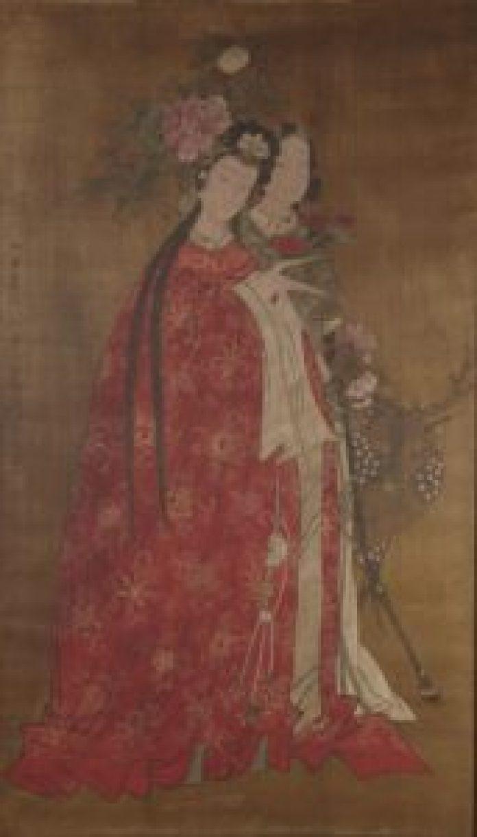 """由于其玫瑰色和云状的形状,被称为 """"玫瑰云霞帔""""(artmuseum.princeton.edu/pin)"""