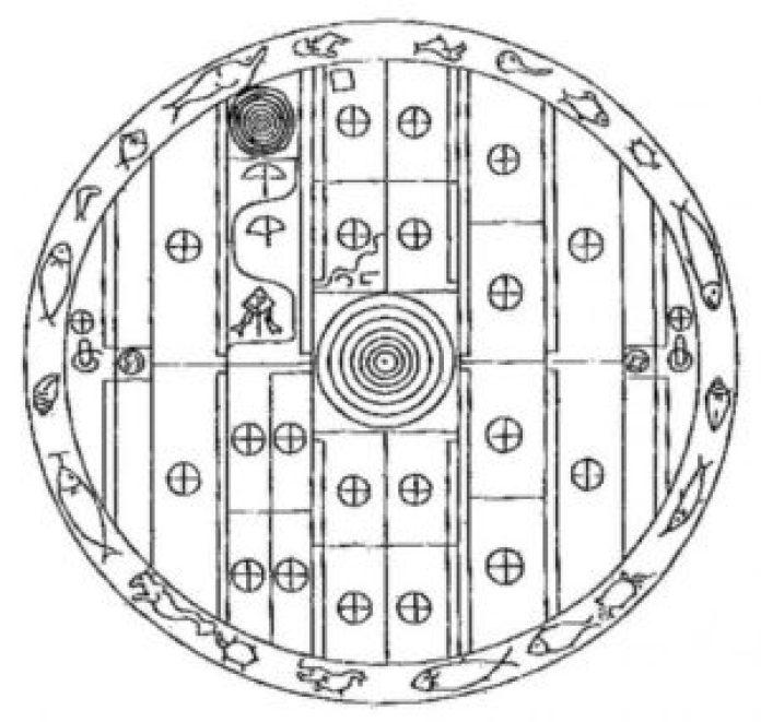 1901年锡兰考古调查中的Sakwala Chakraya草图 ( lakdiva.org)
