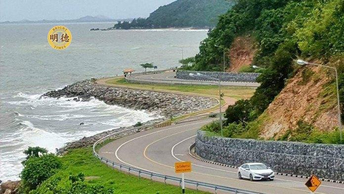 尖竹汶滨海美景:泰国最美的公路之一KungWiman沿海公路