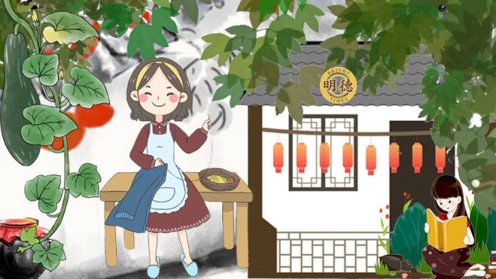 朱锦是裁缝店家的女儿(明德合成)