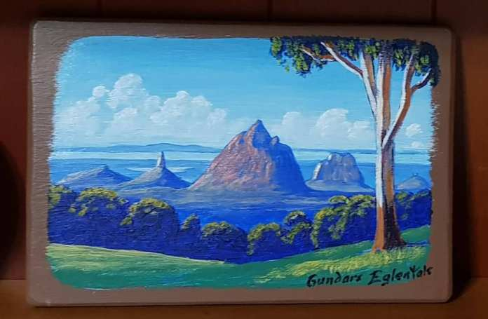 從現場作畫的當地畫家手上購得此畫。