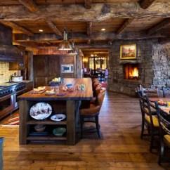 Country Kitchen Islands American Standard Faucet Repair 古朴烹饪乡村田园风厨房 简书 旧旧的木质顶部与石墙的搭配 让这间厨房中透出一股美式乡村的气息 岛台与餐桌合二为一 极具趣味性 浓浓的古朴感在这间厨房中显现