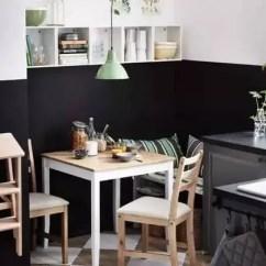 Corner Booth Seating Kitchen Cabinet Refacing Diy 西安塞纳春天 小户型房子餐厅应该如何装修设计 简书 如果厨房还有那么个小角落 就可以利用来做就餐区 如图 这个厨房就餐区的设计非常棒 墙面色彩 挂壁式小餐柜以及小吊灯的设计 让厨房里的就餐区温馨而不局促