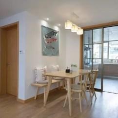 Kitchen Table Set With Bench Ikea Faucet 7万半包搞定95平简约新房 舒适温馨 朋友都说我赚到了 简书 餐厅在厨房的门口 靠着卧室墙边 简单的原木色餐桌椅 觉得这条长凳就是最大的亮点 比起普通的餐桌椅有格调多了