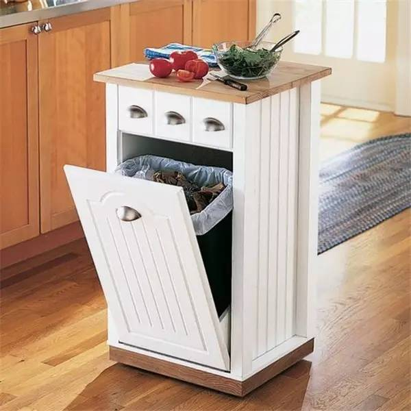 kitchen trash bin granite sinks 家庭厨房垃圾桶的正确设计案例 简书 和厨房装修风格一致的独立垃圾箱柜