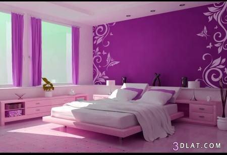 غرف نوم باللون الموف عشاق الموف اوض نوم بنفسجى جميع