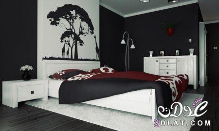 غرف نوم سوداءديكورات غرف عرسان باللون الأسودصور غرف نوم