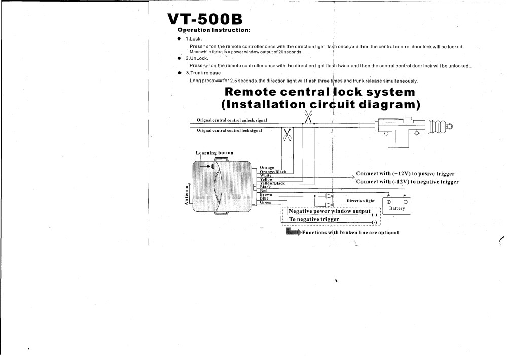 medium resolution of remote central locking installation guide wiring library rh 62 evitta de wiring a homeline service panel