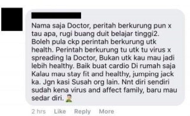 doktor ingkar perintah kuarantin