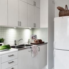 Small Kitchen Sinks Corner Bench Seating For 水槽效果图 水槽图片 水槽装修效果图 点点美家 极简主义日式白色小厨房装修效果图