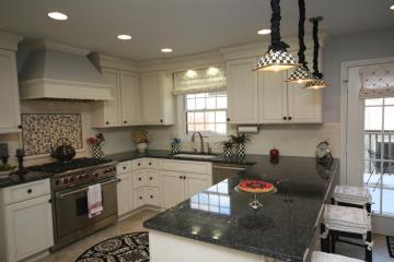 colorful kitchen rugs lighting flush mount 厨房地毯效果图 厨房地毯图片 厨房地毯装修效果图 点点美家 新古典别墅经典设计家庭厨房装修图