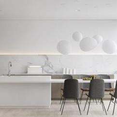 Chairs For Kitchen Table 宜家厨房吧台椅子效果图 宜家厨房吧台椅子图片 宜家厨房吧台椅子装修效果 30个现代白色厨房设计