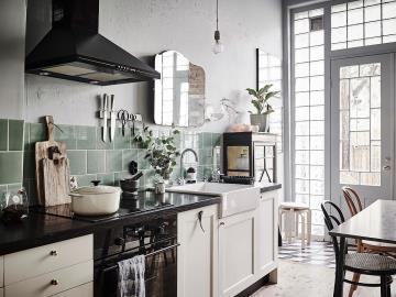 kitchen mirrors appliance comparison sites 混搭厨房镜子效果图 混搭厨房镜子图片 混搭厨房镜子装修效果图 点点美家 厨房镜子