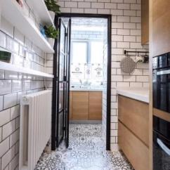 Folding Kitchen Island Wooden Spoons 厨房折叠门效果图 厨房折叠门图片 厨房折叠门装修效果图 点点美家 60 北欧风格小两居