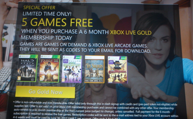 6 Months Xbox Live Gold With 5 Free Games 26 66 On 360