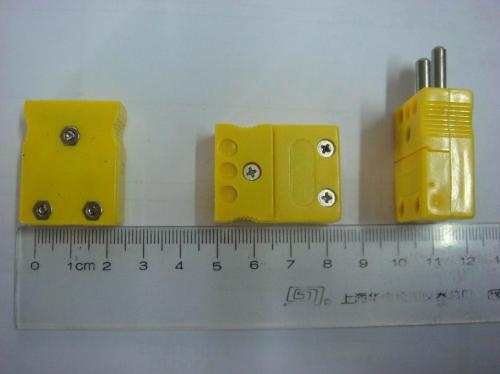 small resolution of type k thermocouple connector male female yellow black color big size