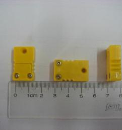 type k thermocouple connector male female yellow color small size [ 1306 x 979 Pixel ]