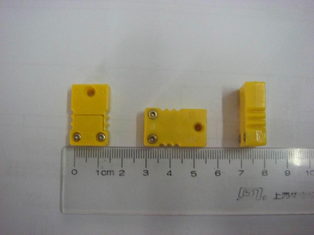 medium resolution of type k thermocouple connector male female yellow color small size